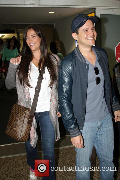 Gaby Espino and Alejandro Chaban arriving Puerto Rico