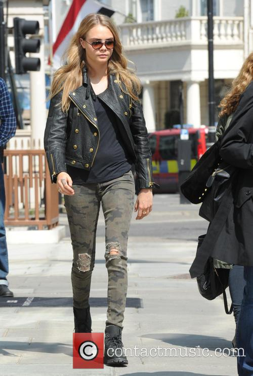 Cara Delevingne out and about