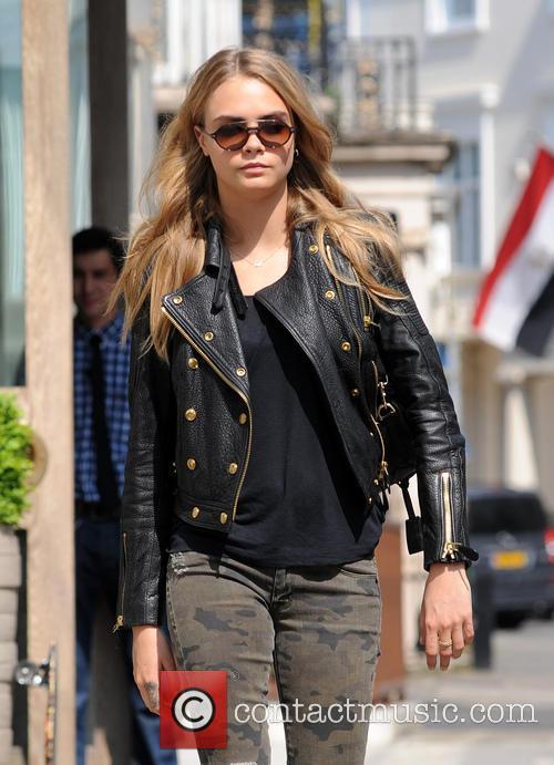 Cara Delevingne leaving a hotel