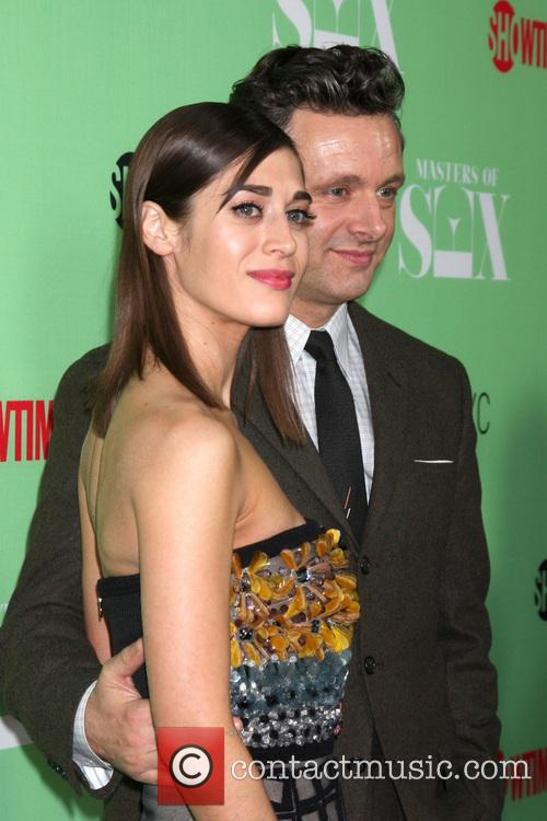 Lizzy Caplan and Michael Sheen 1