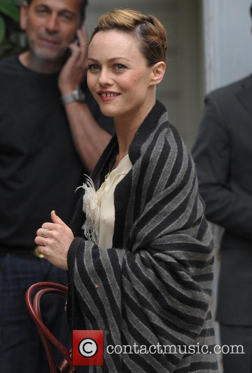 Vanessa Paradis arriving at Vivement Dimanche