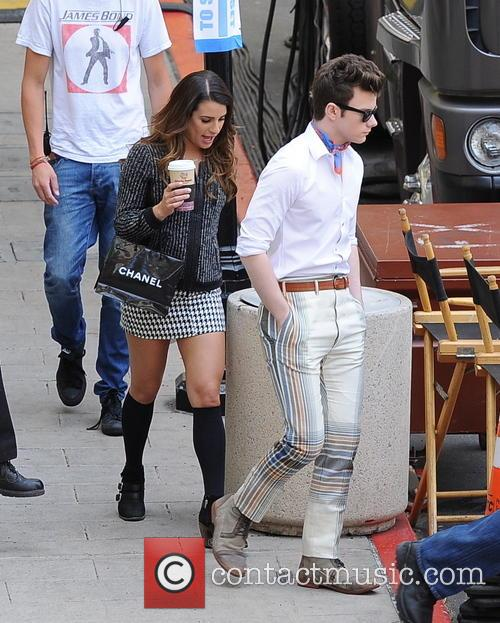 Lea Michele and Chris Colfer 10