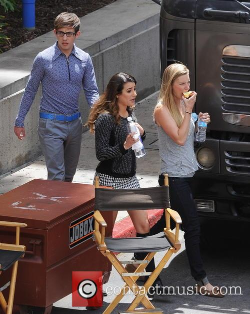 Lea Michele, Heather Morris and Kevin Mchale 6