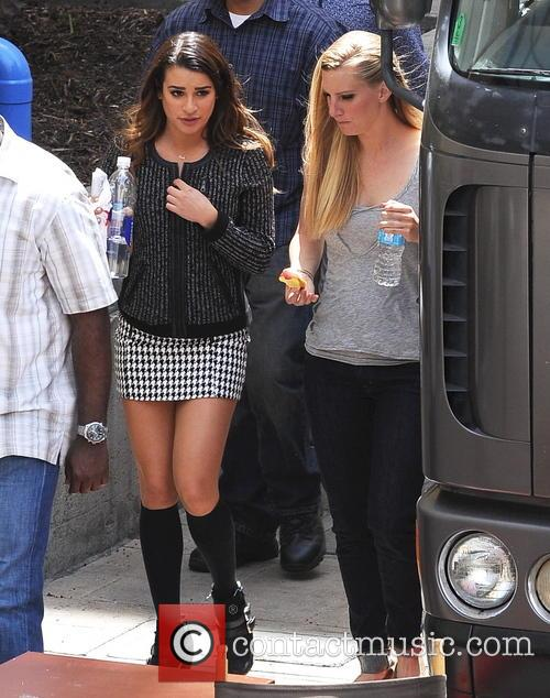 Lea Michele and Heather Morris 3