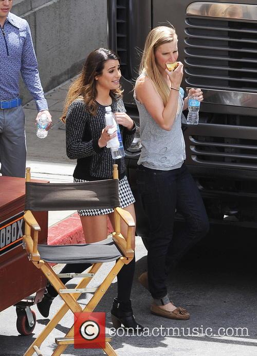 Lea Michele and Heather Morris 7