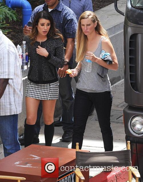 Lea Michele and Heather Morris 8