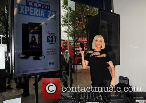 Sarah Harding promotes new Sony Xperia phone for the Carphone Warehouse