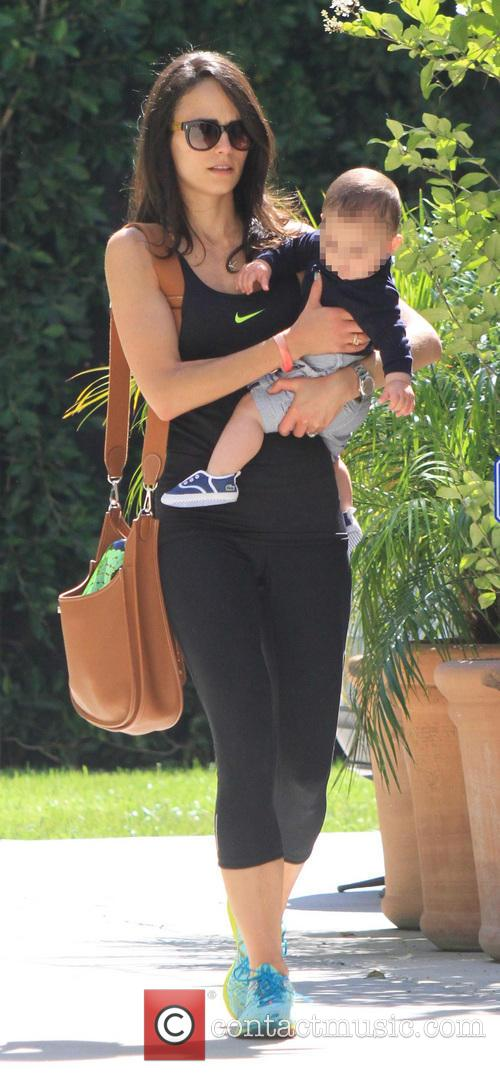 Jordana Brewster spotted out with her family