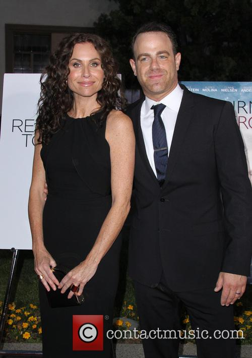 Minnie Driver and Paul Adelstein