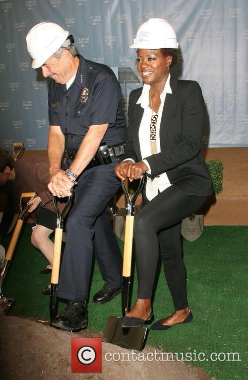 Lapd Chief Charlie Beck and Viola Davis 2