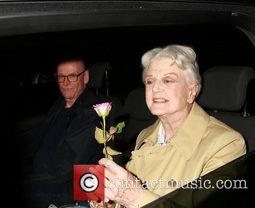 Angela Lansbury leaves the Gielgud Theatre
