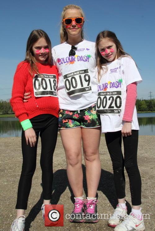 Colour Dash charity run at Rother Valley Country...