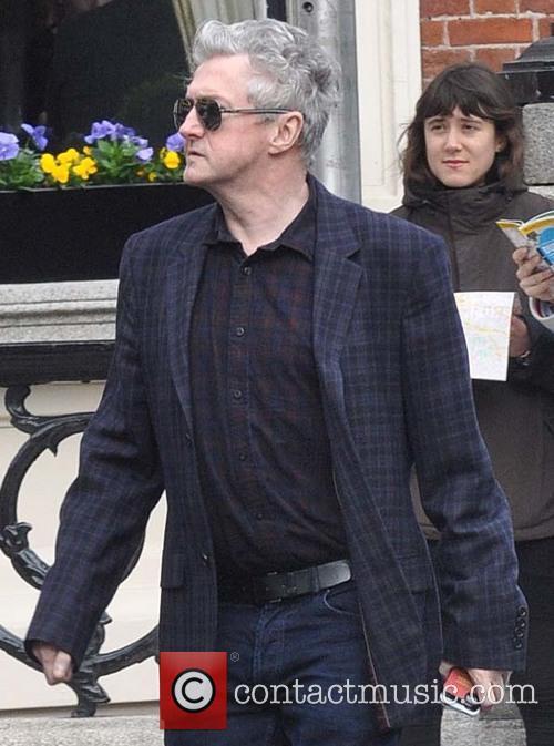Louis Walsh out walking in Dublin
