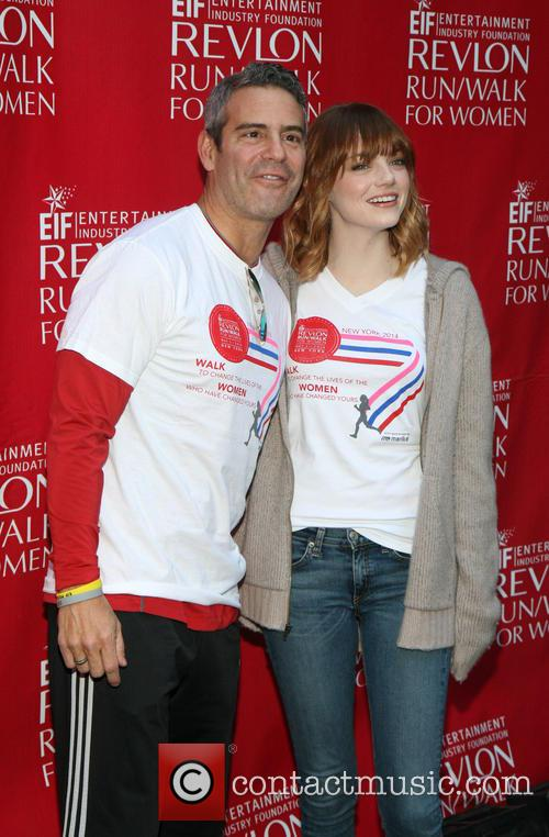 Andy Cohen and Emma Stone 3