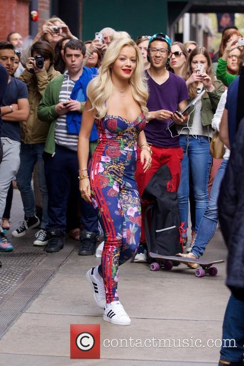 Rita Ora spotted in Soho