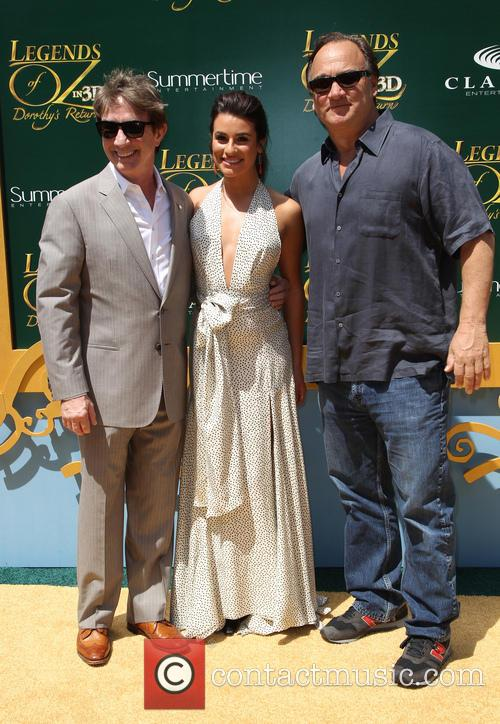 Lea Michele Legends Of Oz Premiere Jim Belushi Martin Short