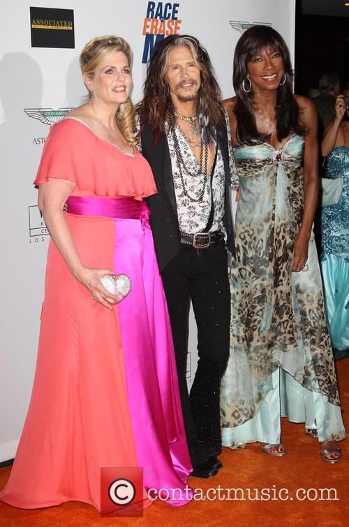 Nancy Davis, Steven Tyler and Natalie Cole 3
