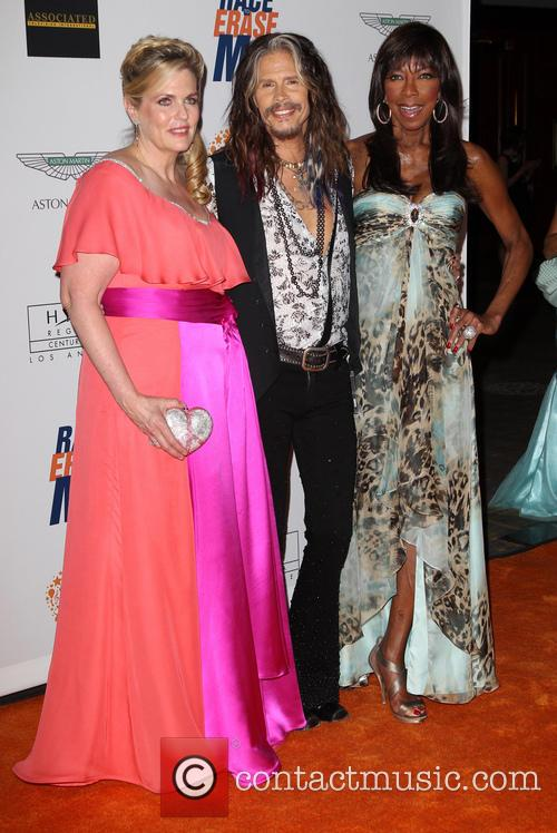 Nancy Davis, Steven Tyler and Natalie Cole 4