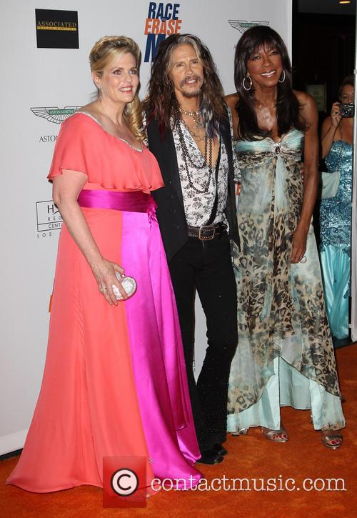 Nancy Davis, Steven Tyler and Natalie Cole 1