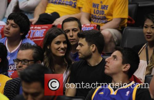 jerry farrarra celebrities watch the clippers playoff 4179181