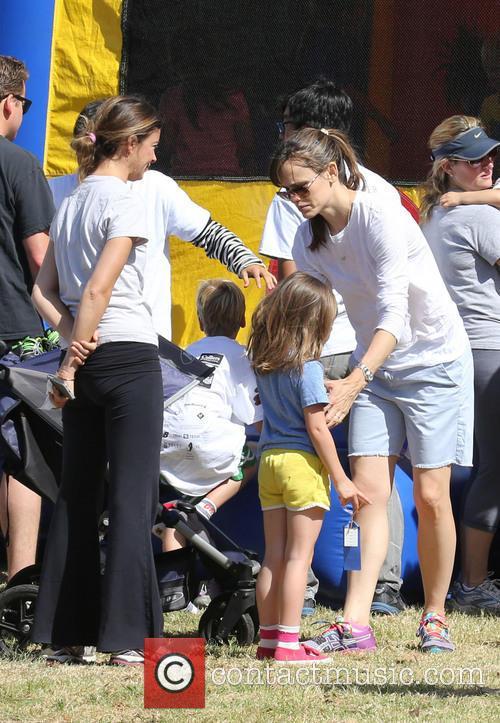 Jennifer Garner and Seraphina Affleck 2