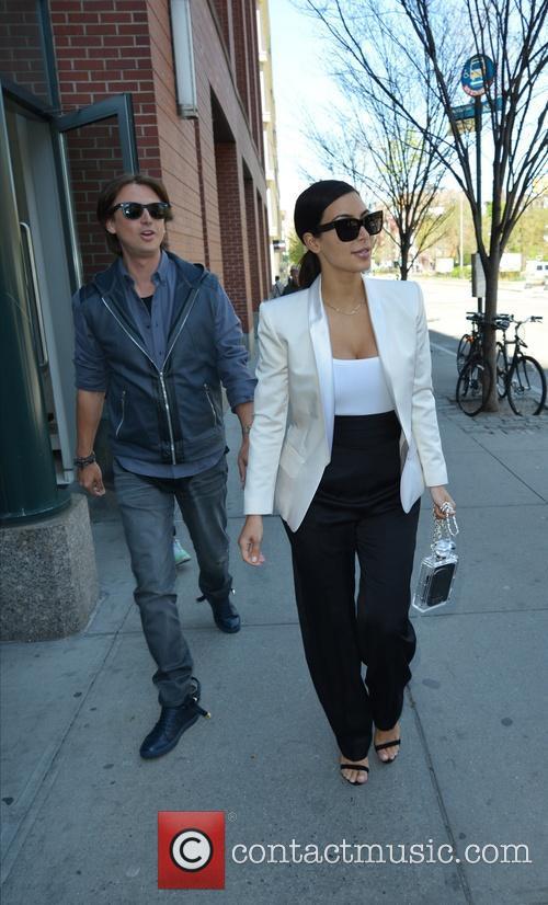 Kim Kardashian leaving her apartment