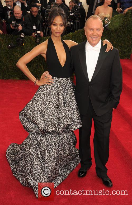 Zoe Saldana and Michael Kors 1