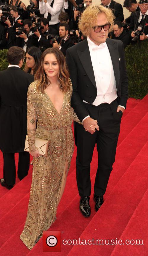Leighton Meester and Peter Dundas