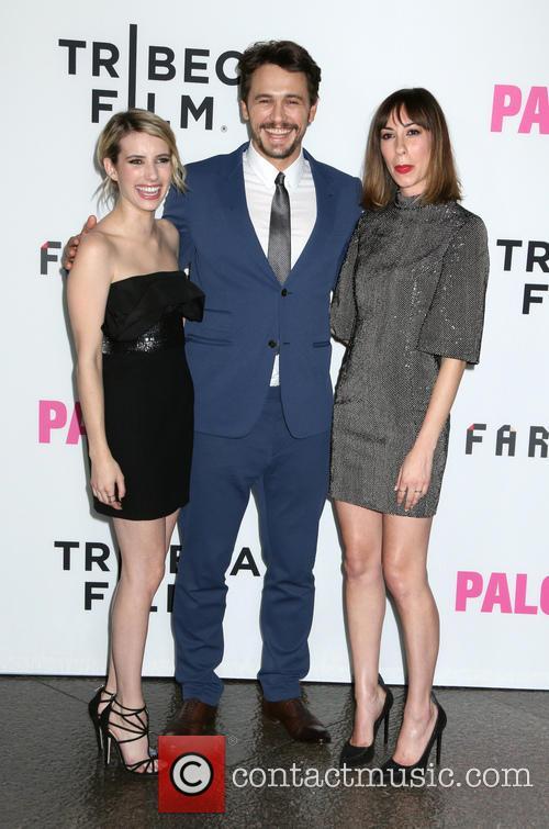 Emma Roberts, James Franco and Gia Coppola