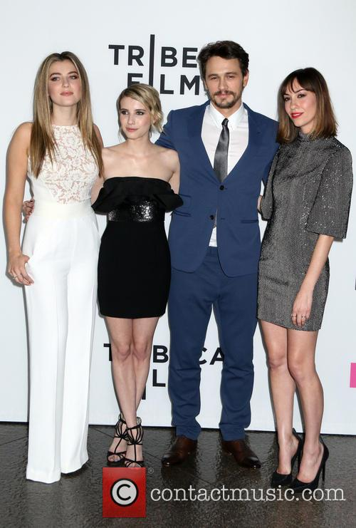 Zoe Levin, Emma Roberts, James Franco and Gia Coppola 2