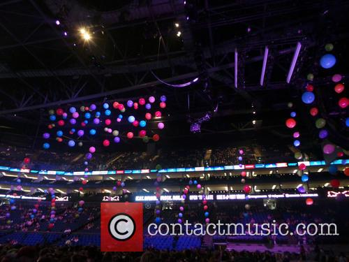 Miley Cyrus performs live at The O2
