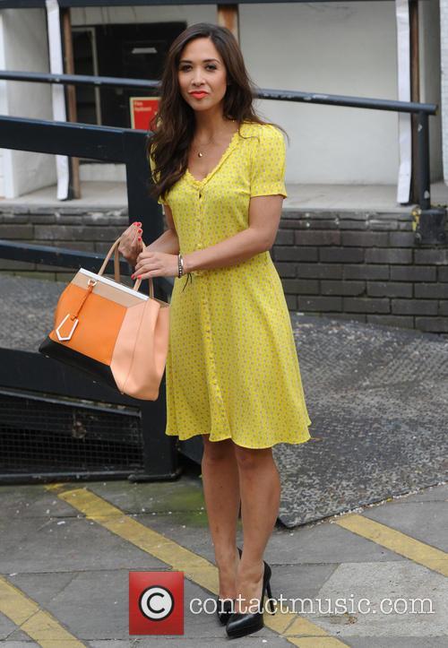 Myleene Klass at the ITV studios