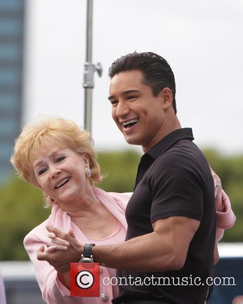 Debbie Reynolds and Mario Lopez