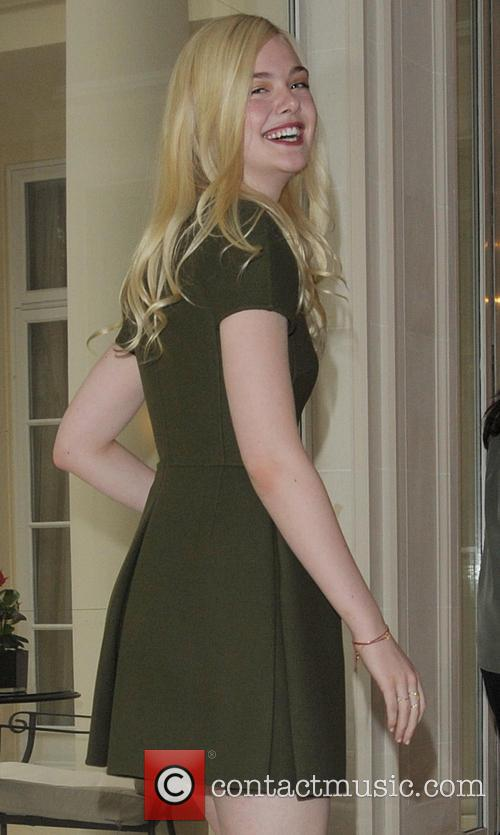 Elle Fanning arriving at the Bristol Hotel