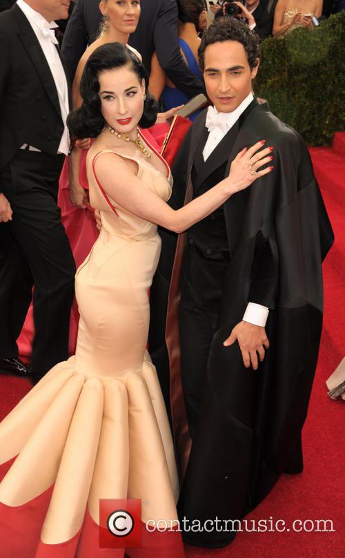 Dita Von Teese and Zac Posen 2