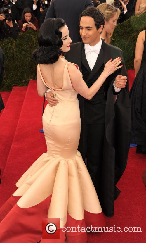 Dita Von Teese and Zac Posen 3