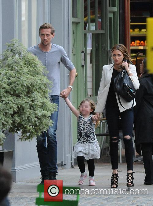 Abbey Clancy and Peter Crouch in Primrose Hill