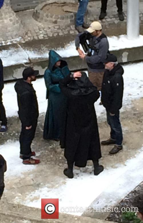 Jennifer Lawrence Filming Mockingjay