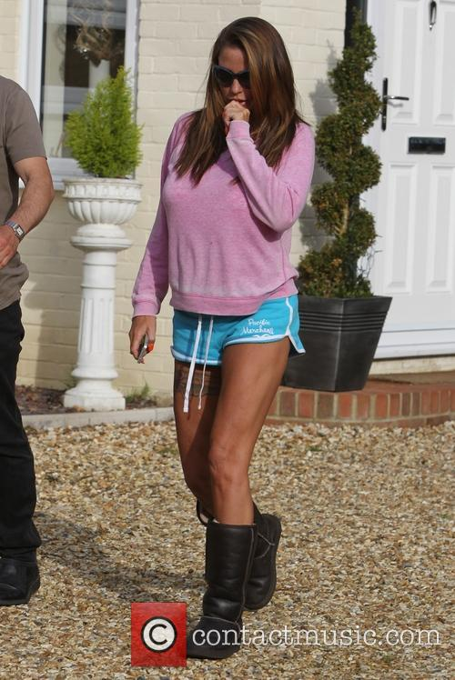 katie Price leaves house