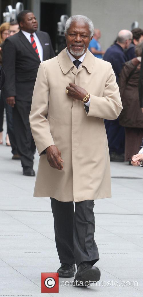 Koffi Annan Leaves The BBC Studios