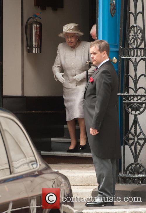 Queen Elizabeth II attends he Journalists' Charity Reception...