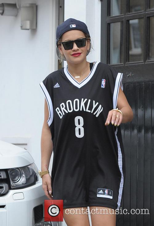 Rita Ora leaving her home and arriving at...