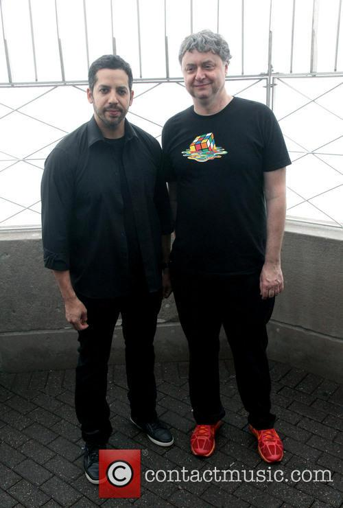 David Blaine, Rubik Visit The Empire and State Building 7