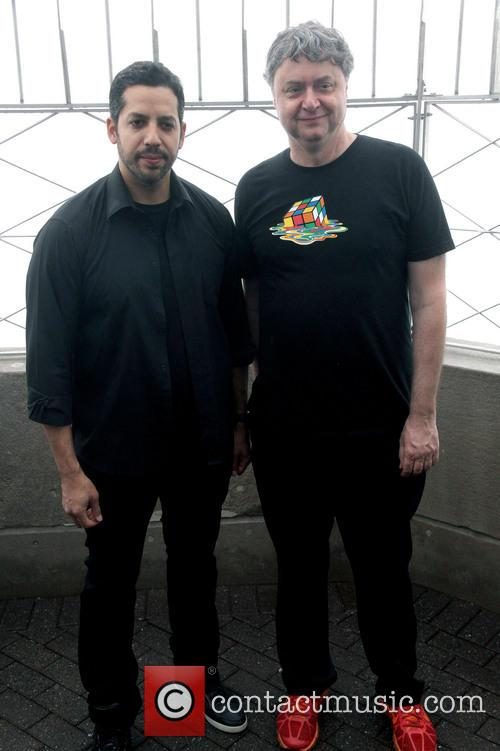 David Blaine, Rubik Visit The Empire and State Building 8