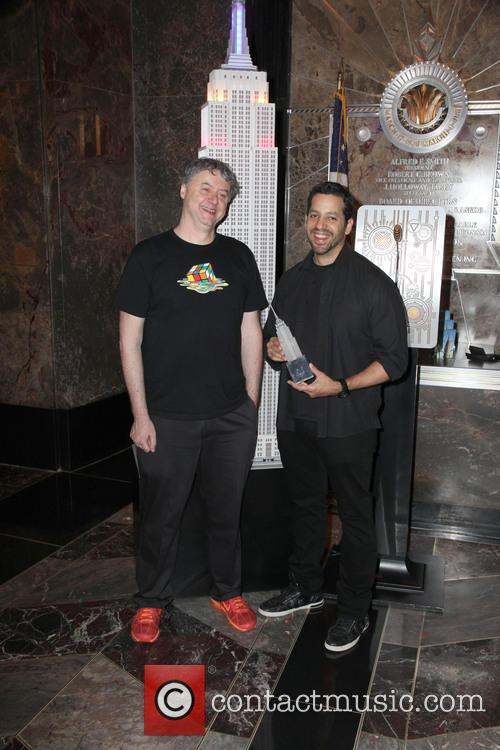 David Blaine, Rubik Visit The Empire and State Building 14