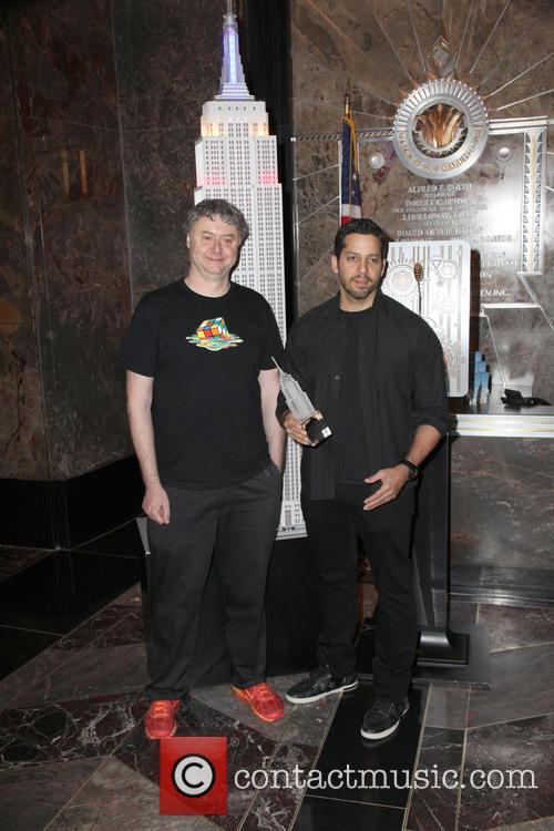 David Blaine, Rubik Visit The Empire and State Building 16