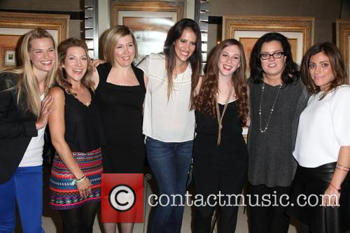 L To R, Tina Grapenthin, Katie Green, Ginger Williams-cook, Leticia Guimares-lyle, Jordyn Levine, Rosie O'donnell and Carlye Rubin 2