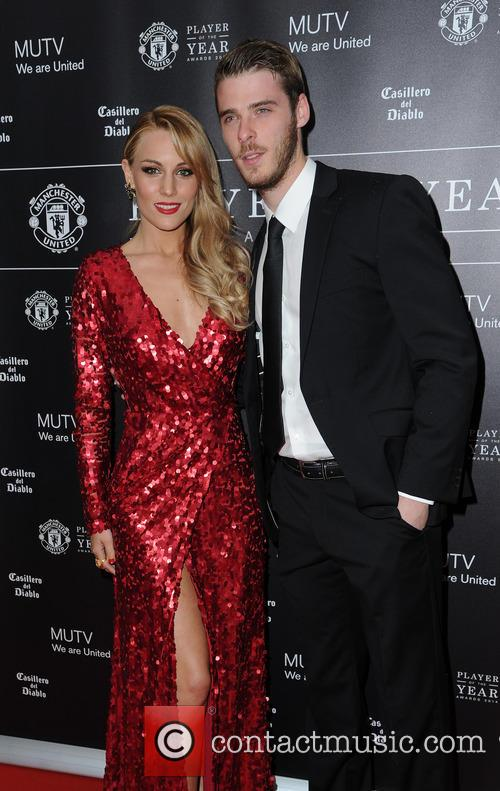 Manchester United, David De Gea and Edurne 6