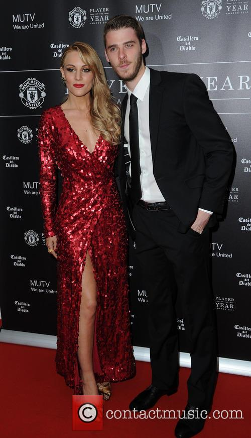 Manchester United, David De Gea and Edurne 11