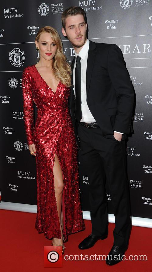 Manchester United, David De Gea and Edurne 1